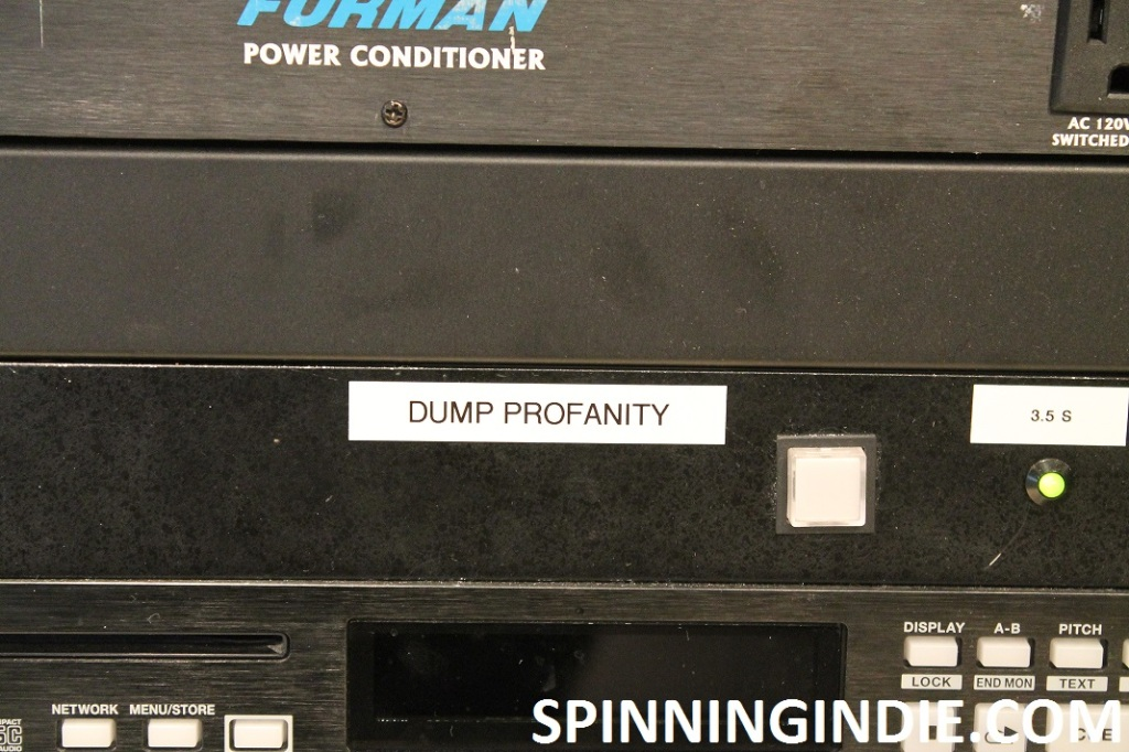 dump button at high school radio station WLTL