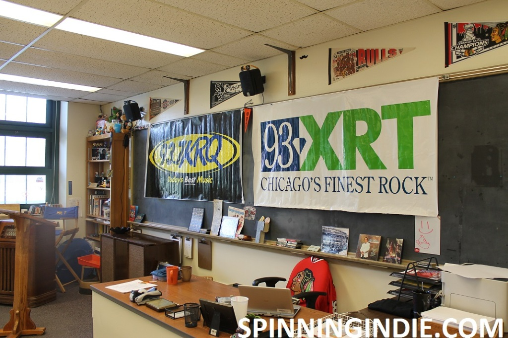 classroom for high school radio station WLTL