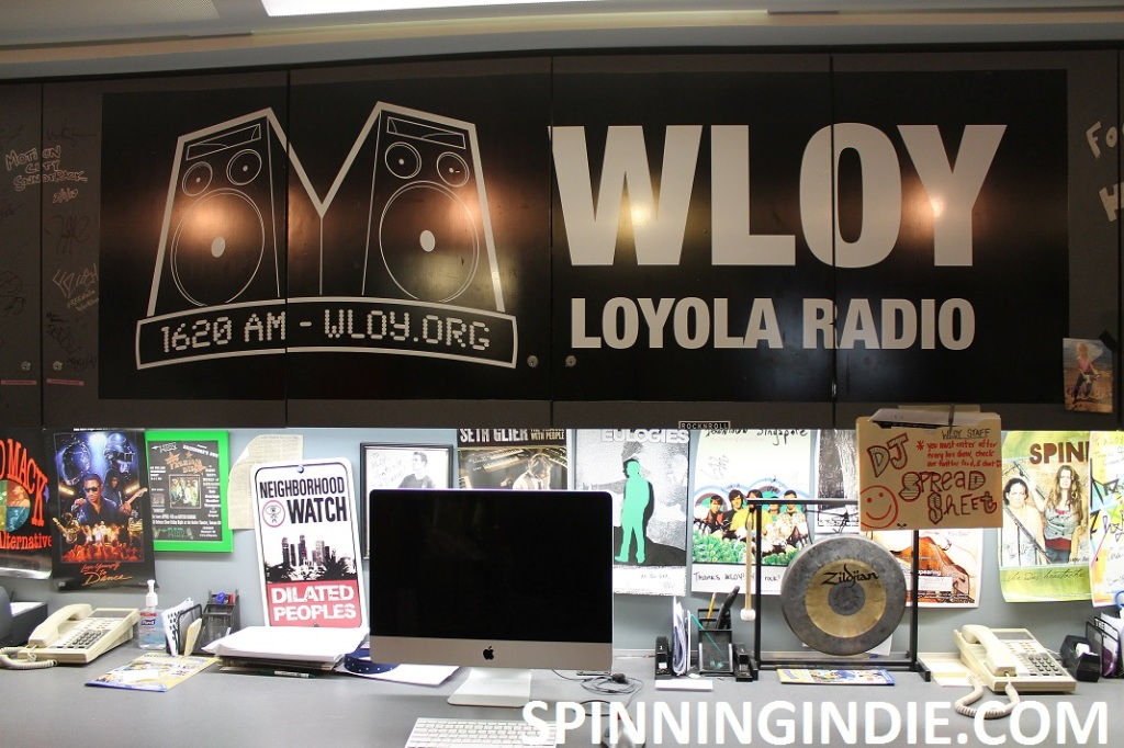 college radio station WLOY lobby