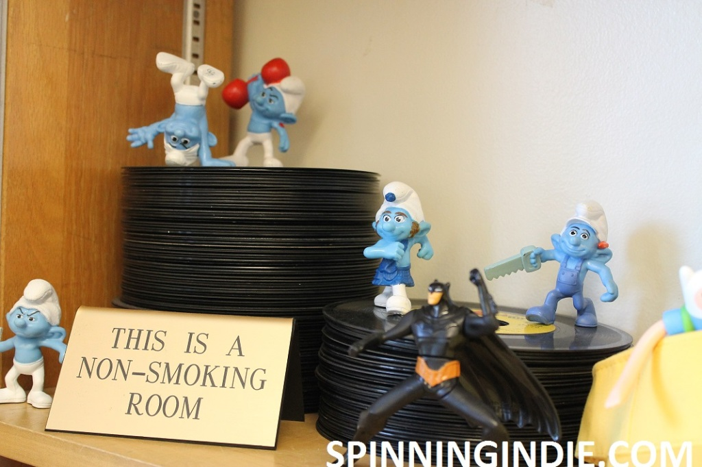 Records and Smurfs at high school radio staiton WLTL