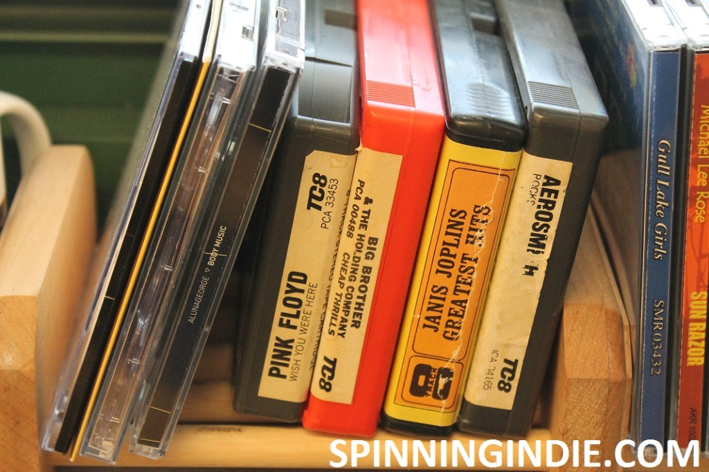 8-tracks and CDs at high school radio station WLTL