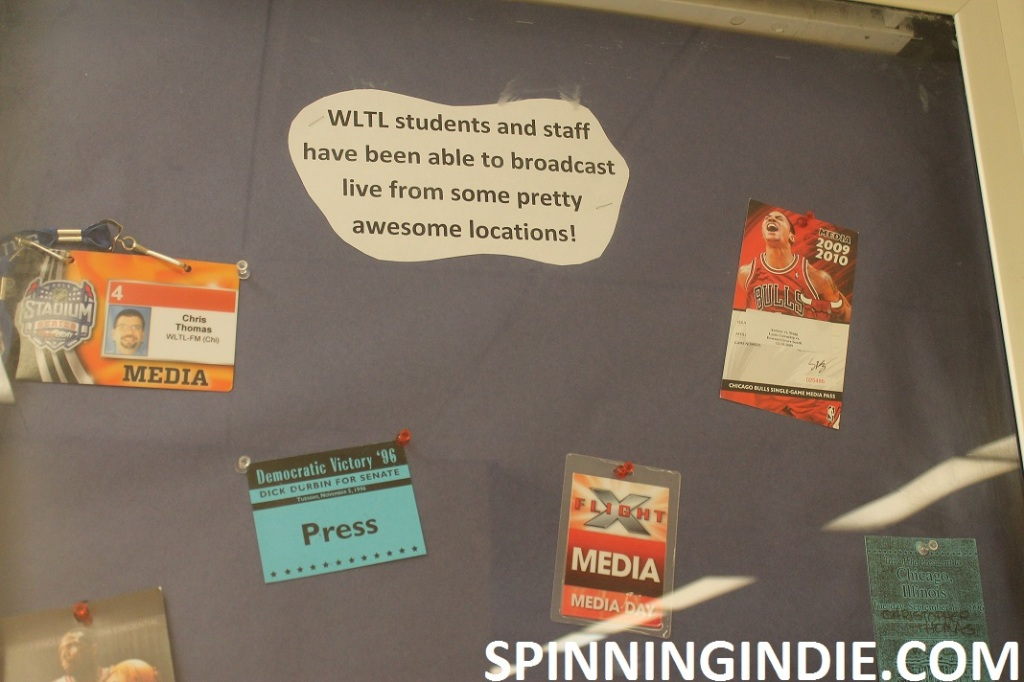 press passes for events covered by high school radio station WLTL