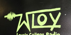 COLLEGE RADIO STATION WLOY LOGO