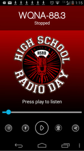 High School Radio Day Android application