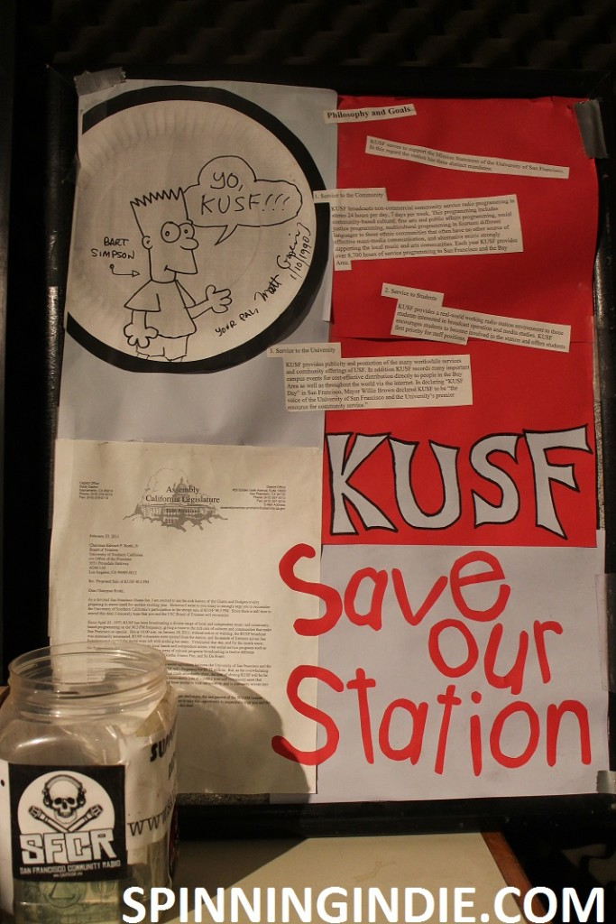 Save KUSF sign at KUSF in Exile