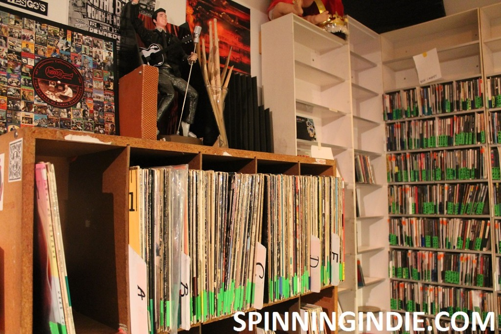 records and CDs at KUSF in Exile