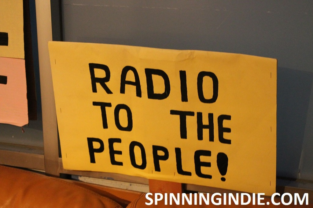 Radio to the People sign at San Francisco Community Radio
