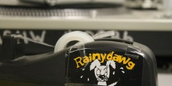 tape dispenser at college radio station Rainy Dawg Radio