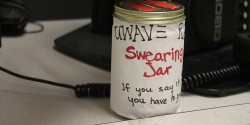 Swear Jar at college radio station UWave