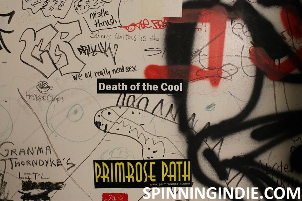 bathroom graffiti at college radio station WMFO