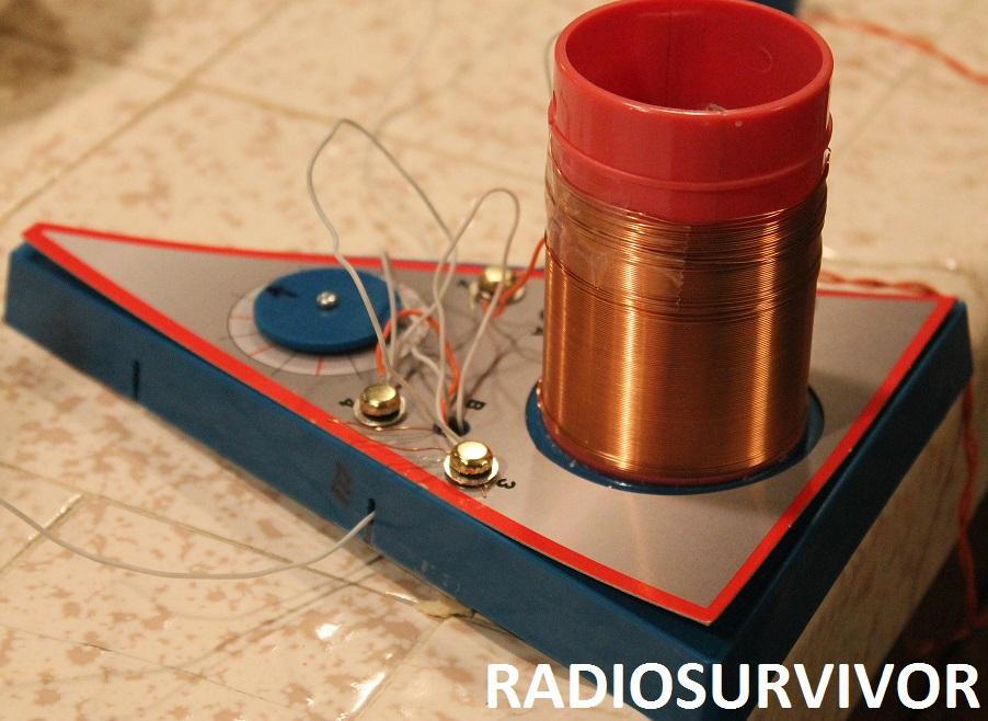 completed crystal radio