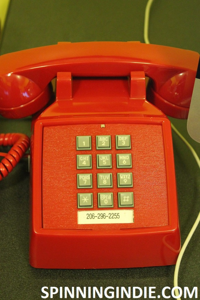 Red phone at college radio station KXSU