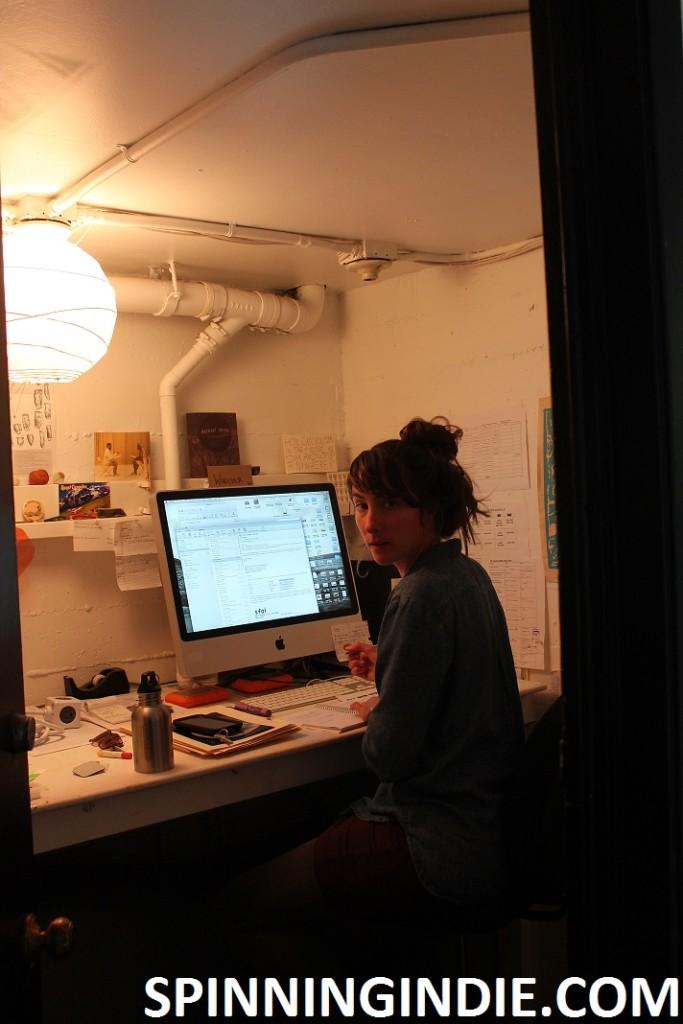 Renee Rhodes in her SFAI office