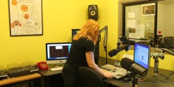 college radio station KXSU studio