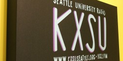 sign at college radio station KXSU