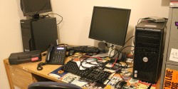 college radio station KXSU's office