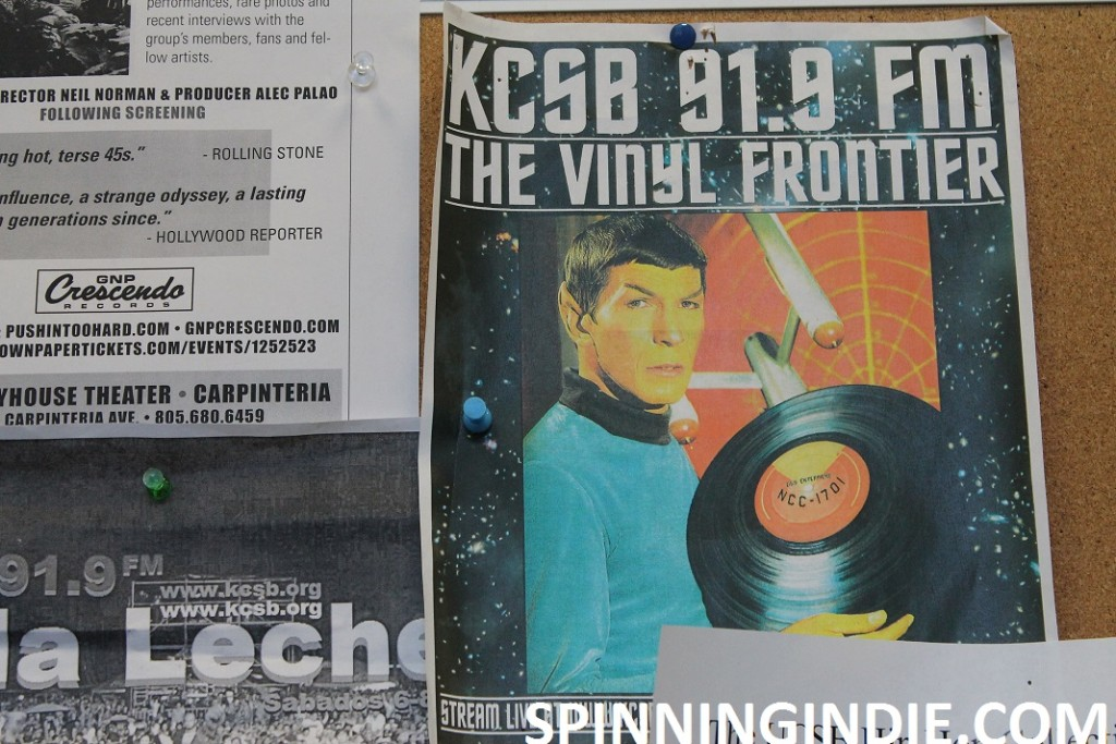 Spock flyer at KCSB
