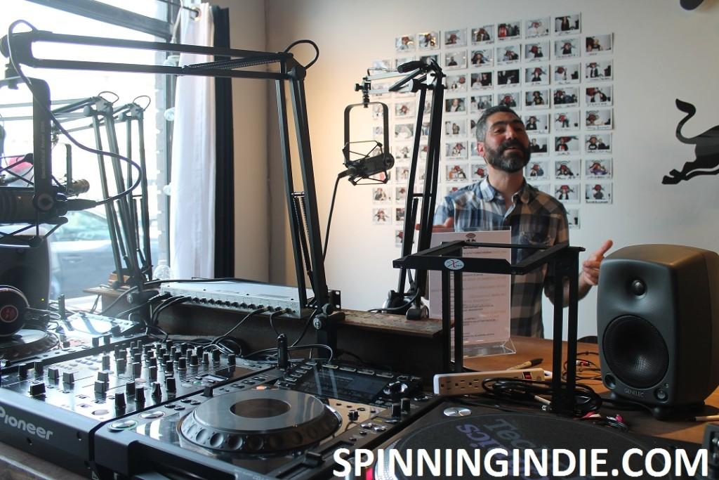 Marke Bieschke at RBMA Radio in San Francisco