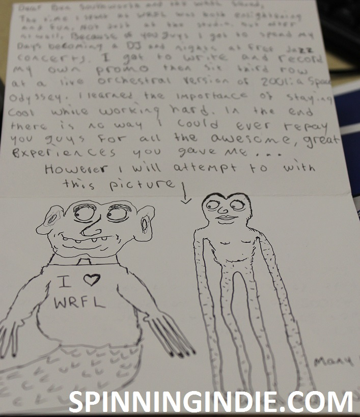 thank you note and drawing from a high school student