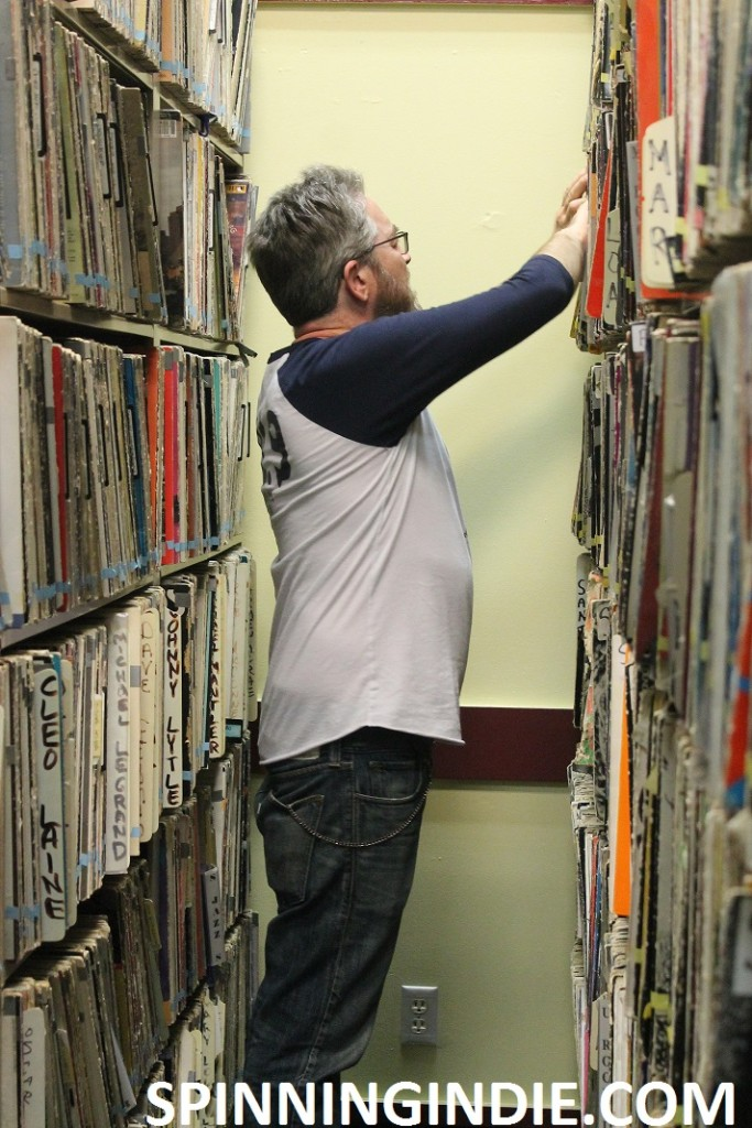 Ted Coe in KCSB record library