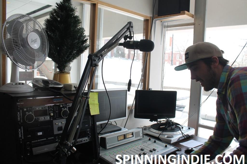 Jeff Brach in WRVG studio