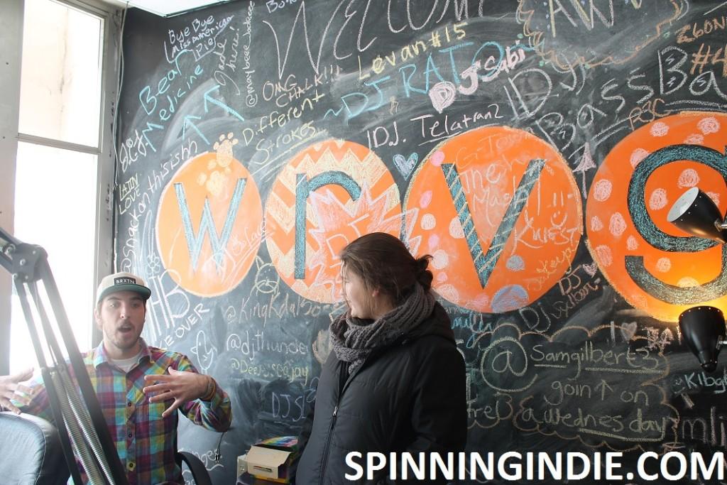 Jeff Brach and Kelsey West in WRVG studio