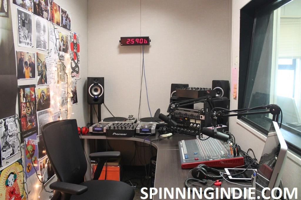 college radio station 9th Floor Radio's studio