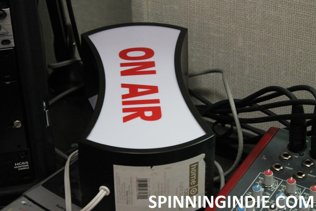 On Air sign at 9th Floor Radio