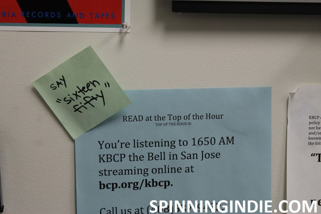 sign in KBCP studio