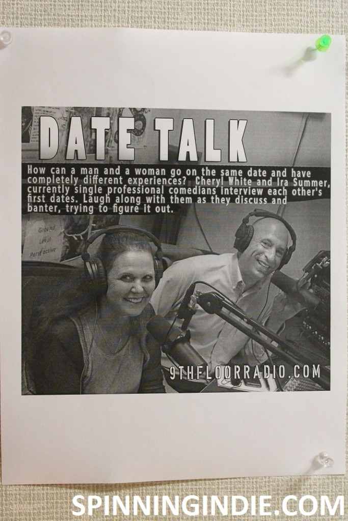 Date Talk flyer at 9th Floor Radio