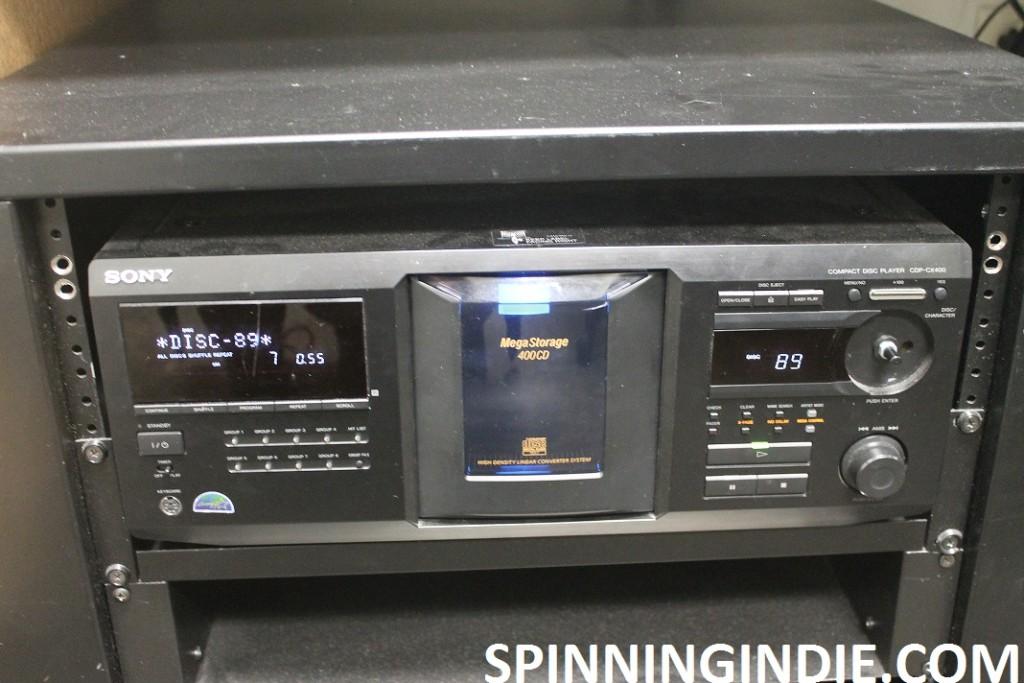 CD jukebox at KBCP
