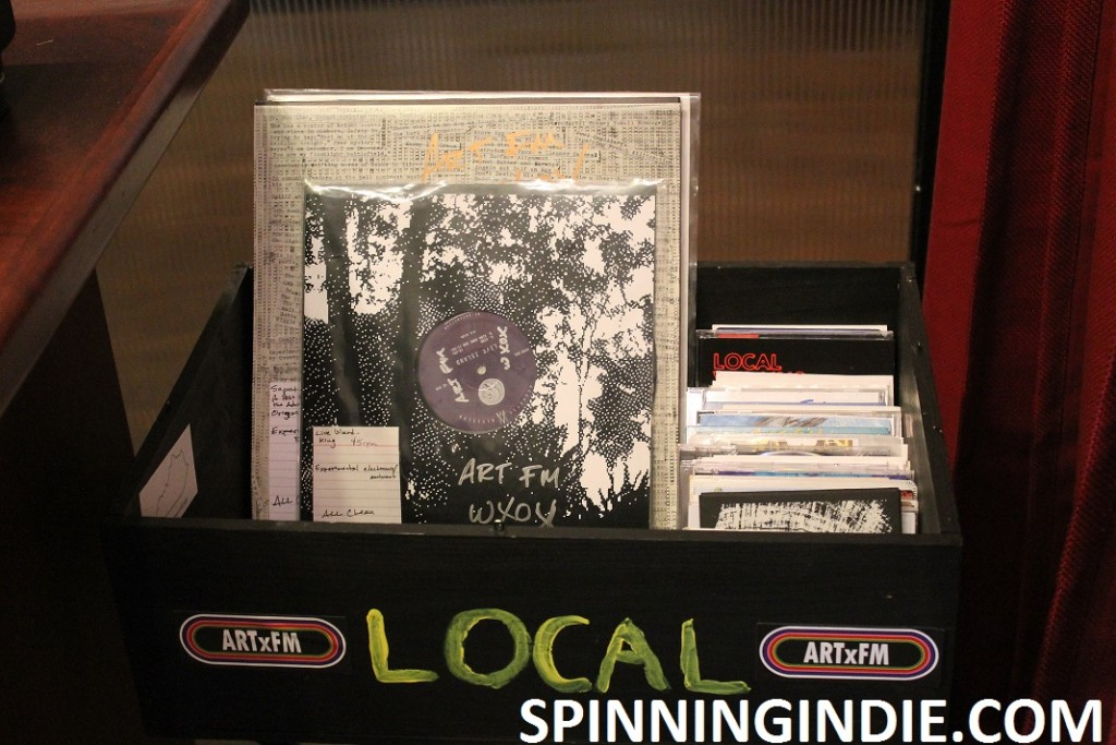 local music bin at ARTxFM
