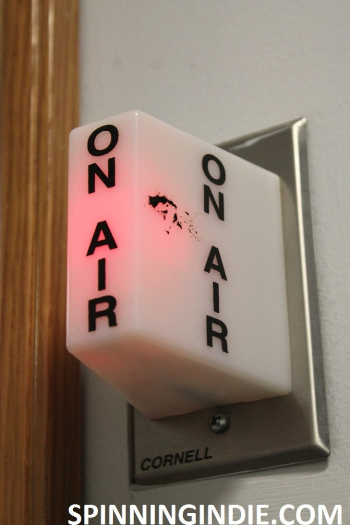 On-air sign at Bellarmine Radio