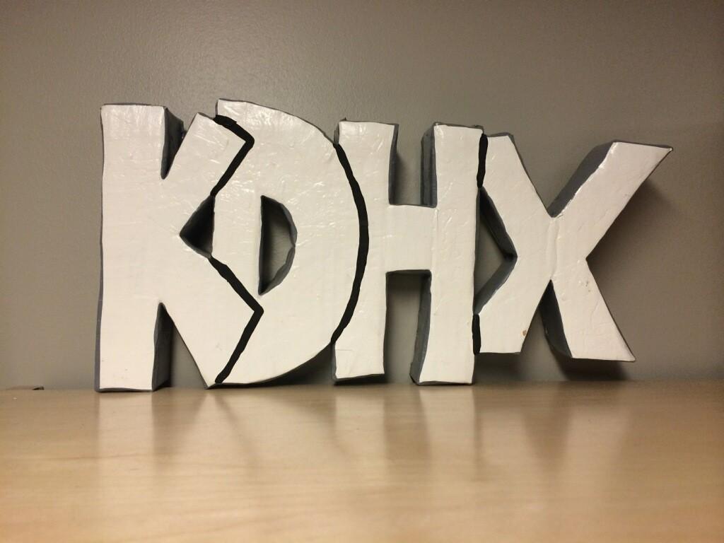 KDHX Leo Blais sign