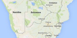 Map of Botswana and Southern Africa
