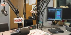 on-air studio at college radio station WHBC