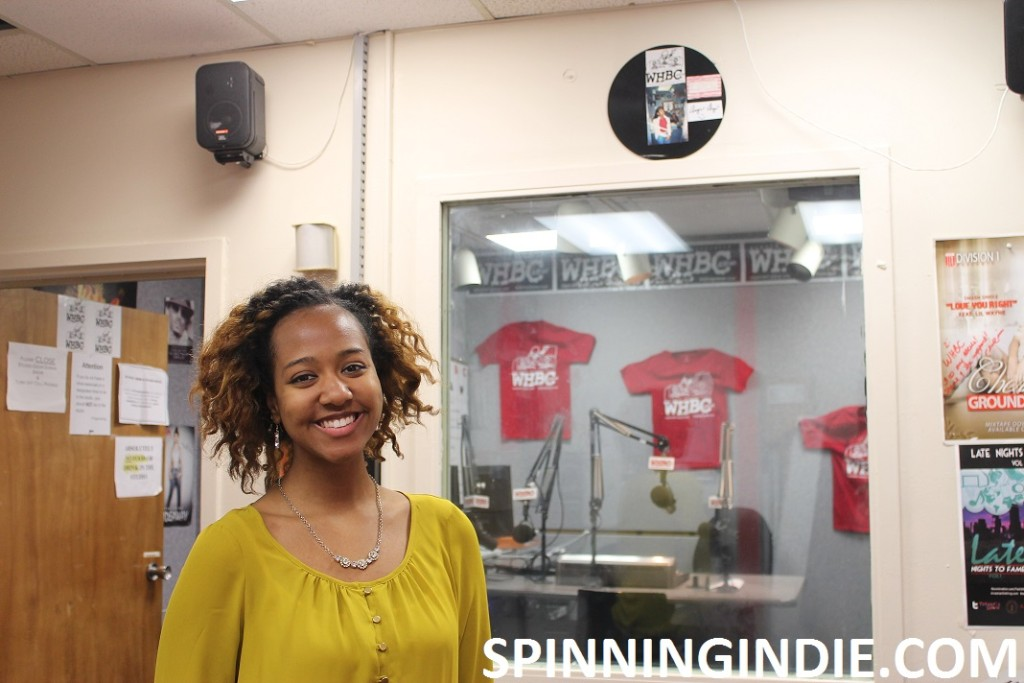 college radio station WHBC's General Manager Jasmine Catchings