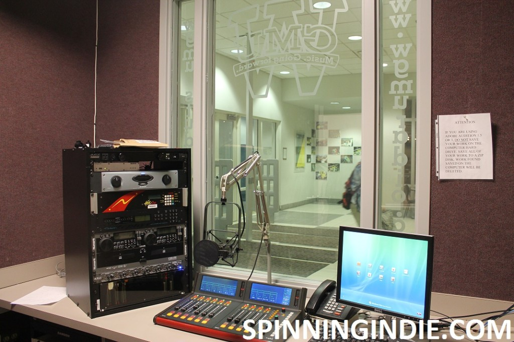 college radio station WGMU's production studio