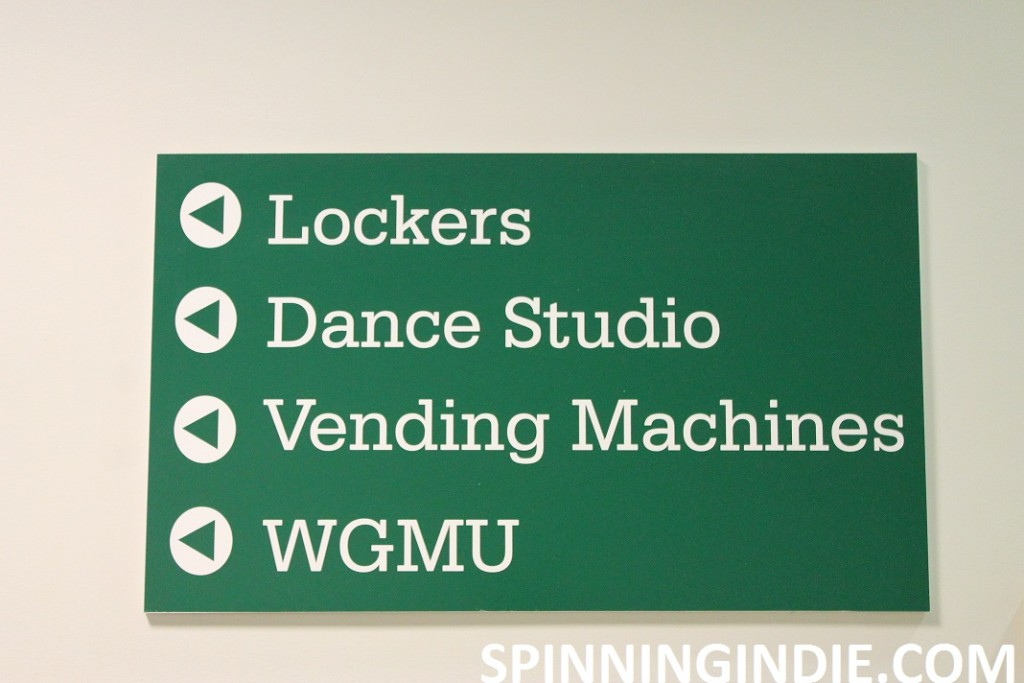 WGMU on sign at George Mason University.