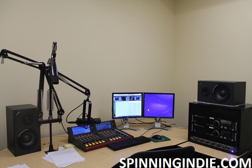 college radio station WGMU practice studio