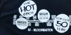 college radio station WIUX reunion tshirt logo
