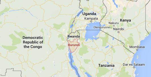 Burundi map
