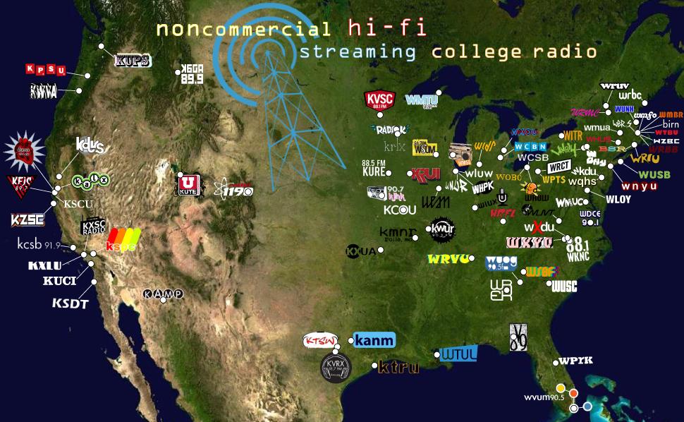 College Radio Watch Scrutinizing \best Station\ Lists Rhradiosurvivor: Map Fm Radio At Gmaili.net