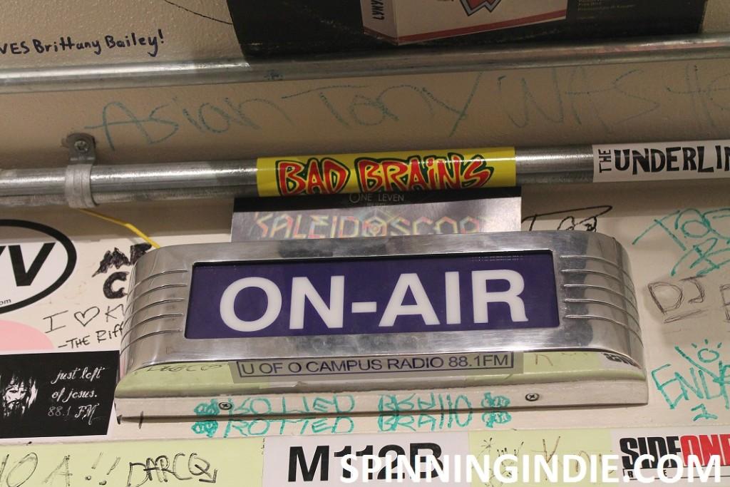 on-air sign at KWVA