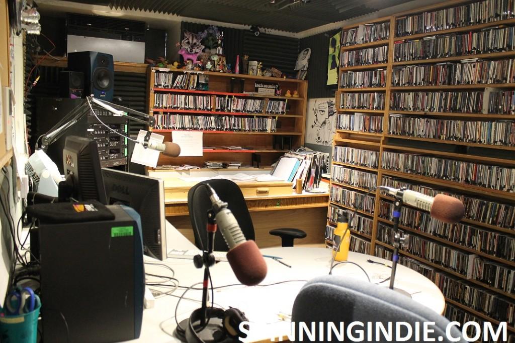 Studio A - on-air studio at KWVA