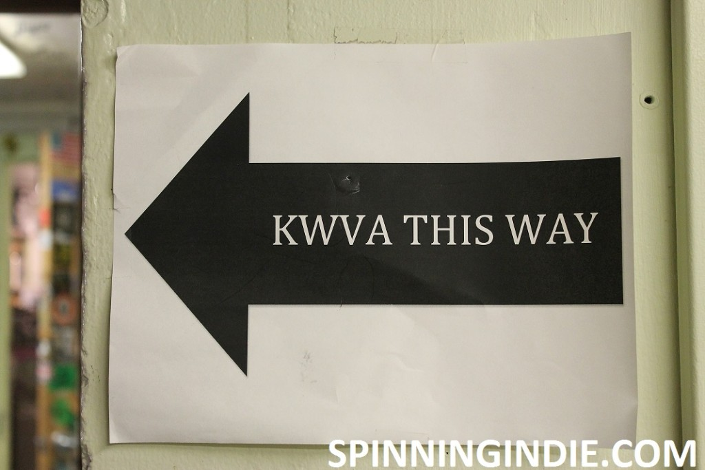 KWVA This Way sign