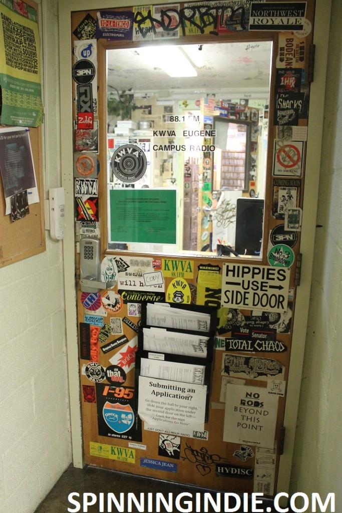 door to college radio station KWVA
