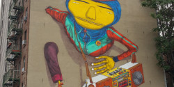 Boom box man Os Gemeos