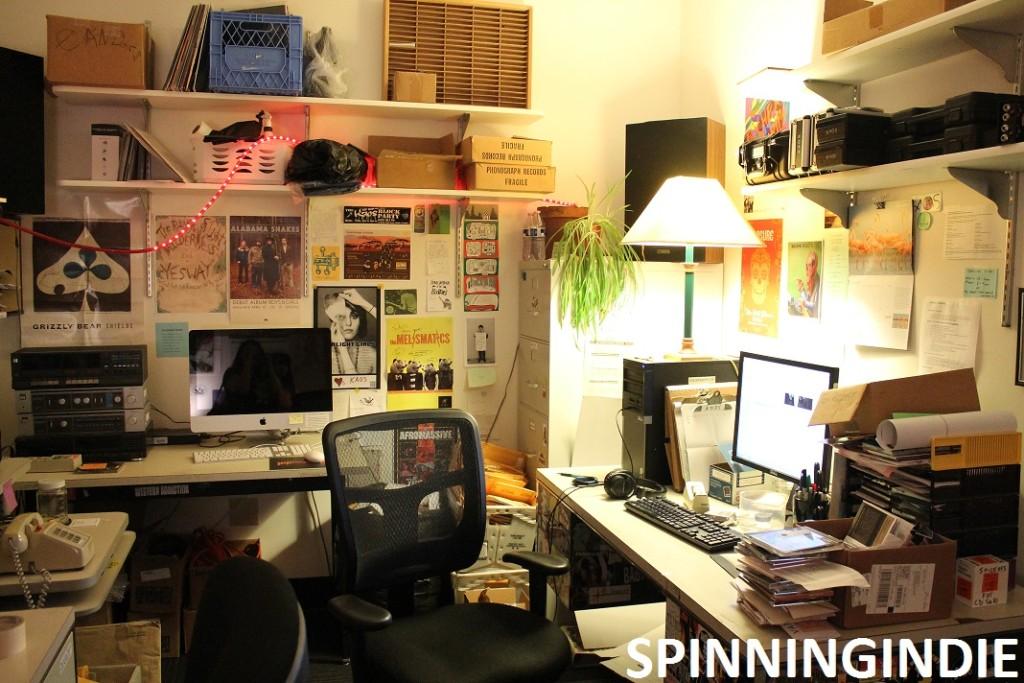 Music Director's office at KAOS. Photo: J. Waits