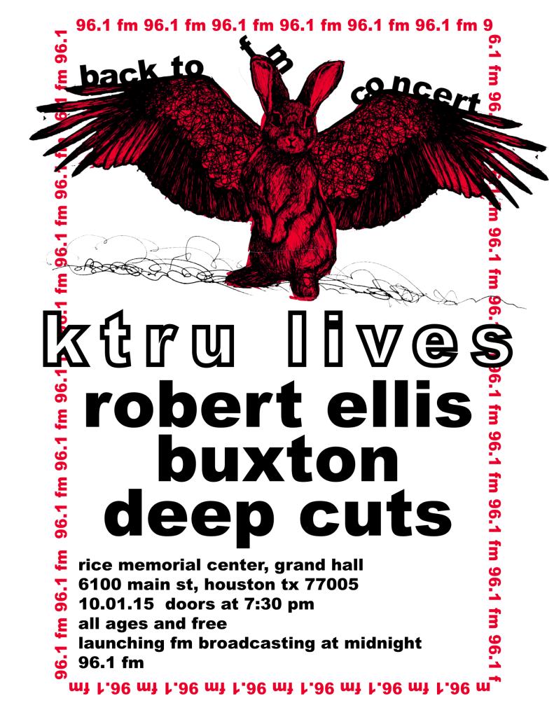 KTRU concert flyer
